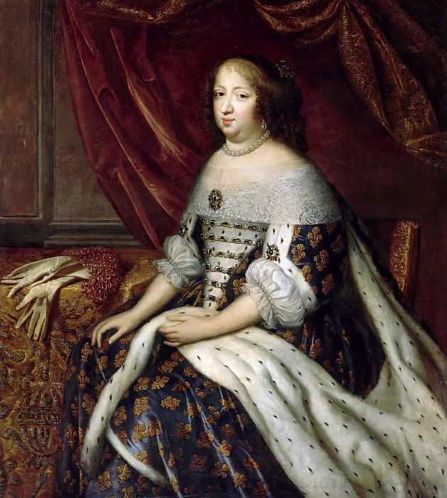 Charles Beaubrun, Henri Beaubrun the Younger; attributed to Jean I Nocret -- Anne, Queen of France, consort of Louis XIII (Anne of Austria). Château de Versailles