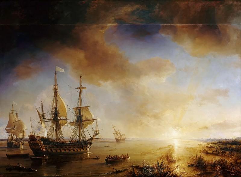 Théodore Gudin -- Robert Cavelier de La Salle's Louisiana Expedition in 1684. Château de Versailles