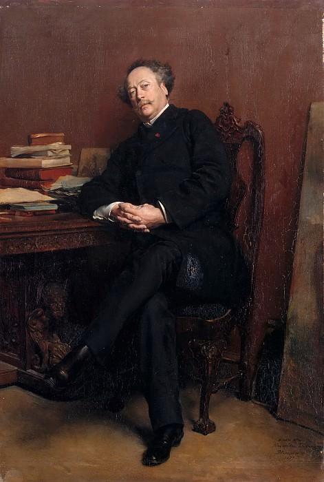 Jean Louis Ernest Meissonier -- Alexandre Dumas, fils (1824-1895). Château de Versailles