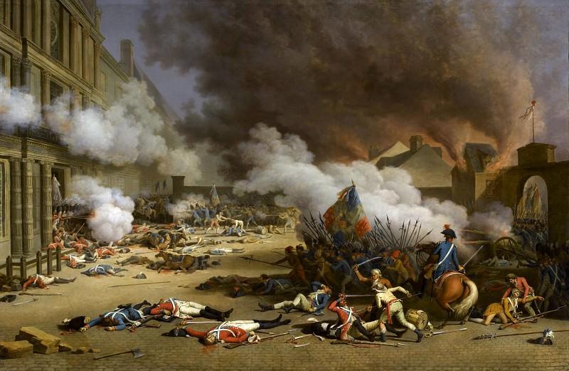 Жак Берто -- Захват Тюильри в 1792 году. Версальский дворец