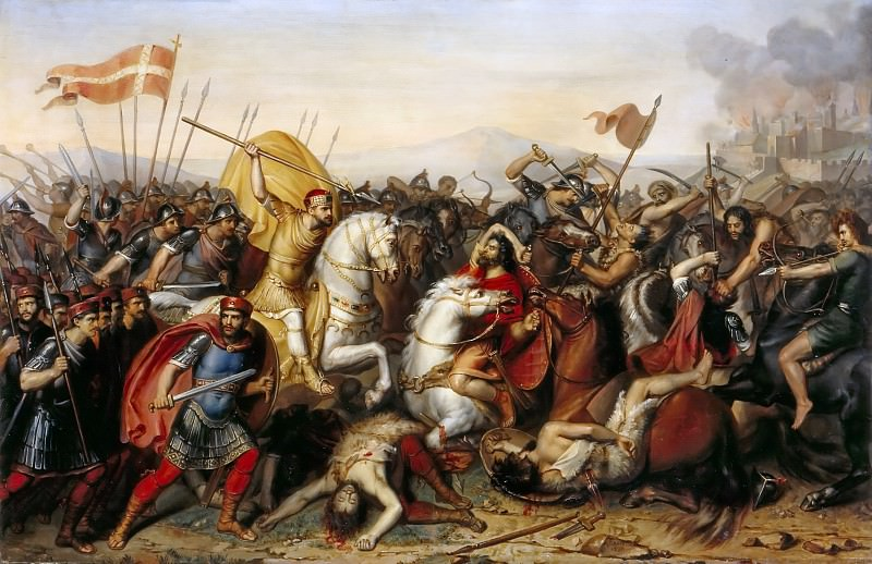 Jean-Joseph Dassy -- Battle of Saucourt-en-Vimeu, July 881. Château de Versailles