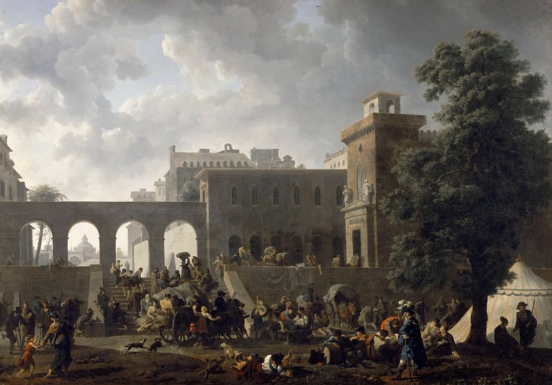 Taunay, Nicolas-Antoine -- Hôpital militaire en Italie, 1797. Château de Versailles