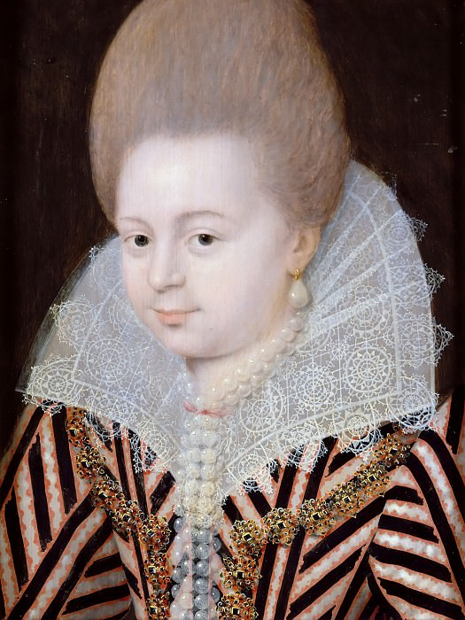 Attributed to Etienne Dumonstier II -- Unknown woman. Château de Versailles