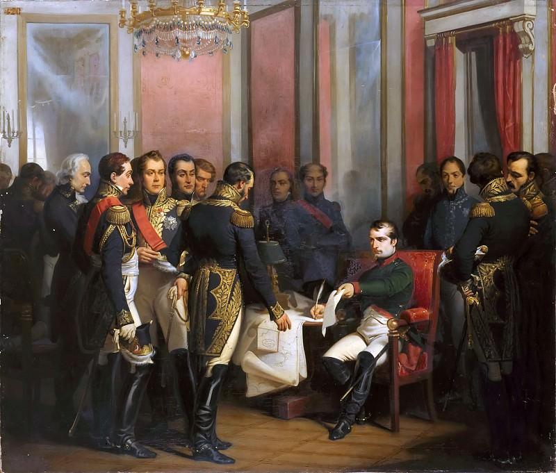 Gaetano Ferri -- Napoleon I Signing his Abdication at Château de Fontainebleau on April 4, 1814. Château de Versailles