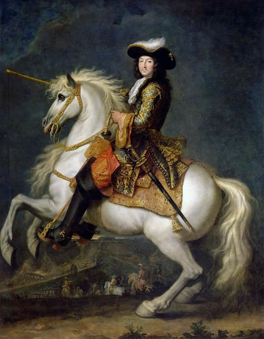René-Antoine Houasse -- Louis XIV, King of France and Navarre, on Horseback. Château de Versailles