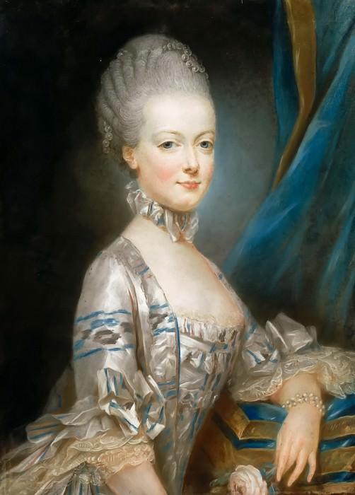 Joseph Ducreux -- Marie-Antoinette of Lorriane-Hapsburg (1755-1793), who became Archduchess of Austria in 1769. Château de Versailles