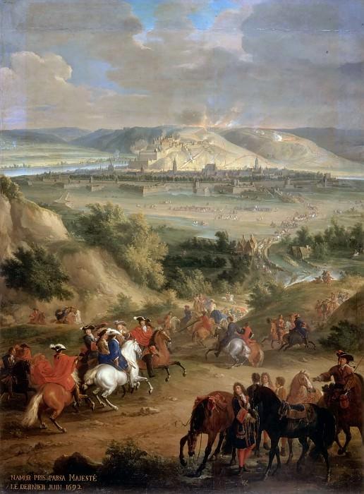 Жан-Батист Мартен -- Осада Намюра в июне 1692 года. Версальский дворец