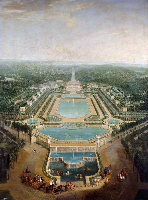 Pierre-Denis Martin -- General view of the chateau and gardens at Marly, around 1724. Château de Versailles