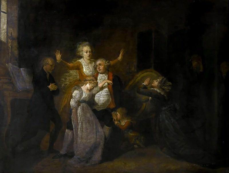 Charles Benaze -- Adieux de Louis XVI à sa famille au Temple, janvier 1793. Château de Versailles