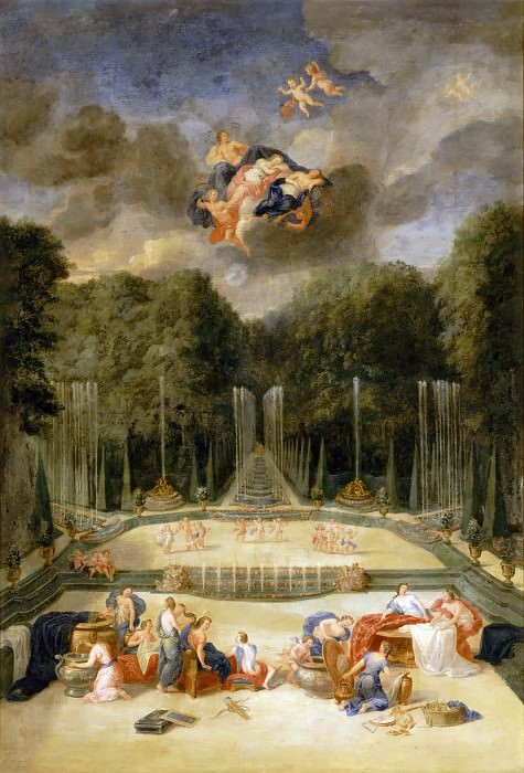 Jean Cotelle the elder -- View of the Water Theater Grove. Château de Versailles