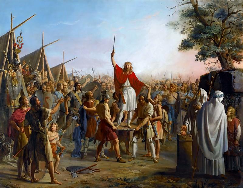 Пьер-Анри Ревуаль и Мишель-Филибер Гено -- Провозглашение Фарамунда королем после разграбления Трира в 1420 году. Версальский дворец
