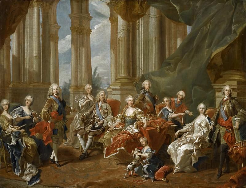 Philippe V, roi d'Espagne, et sa famille en 1745 -- Van Loo, Louis-Michel. Château de Versailles