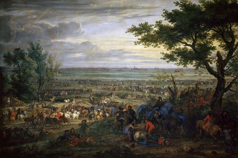 Van der Meulen, Adam-Frans -- Arrivée de Louis XIV devant Douai, 2 juillet 1667. Château de Versailles