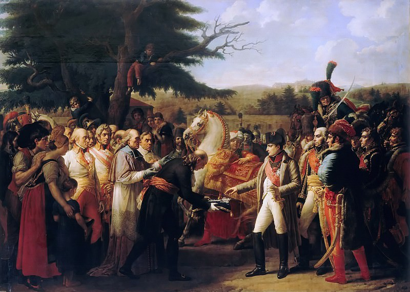 Anne-Louis Girodet de Roucy-Trioson -- Napoleon Receiving the Keys of Vienna at Schönbrunn, 13 November 1805. Château de Versailles