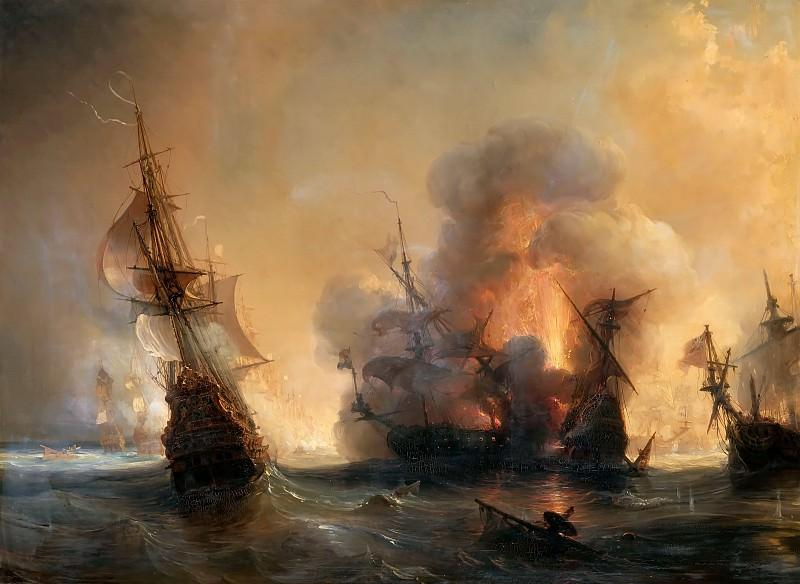 Гюден, Жан Антуан Теодор - Атака на английский флот графом Турвиллем и Жаном Бартом в Смирне. Версальский дворец