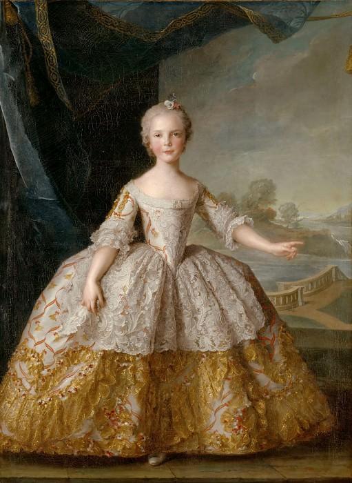 Jean-Marc Nattier -- Isabelle of Parma as a child (1741-1763). Château de Versailles
