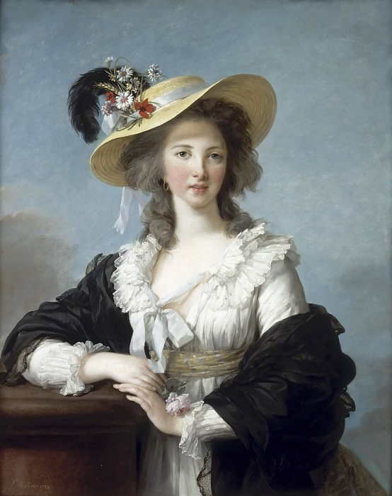 Yolande-Martine-Gabrielle de Polastron, duchesse de Polignac. Élisabeth Louise Vigée Le Brun