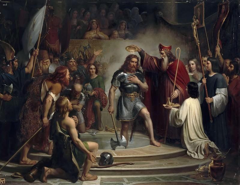 Франсуа-Луи Арди Дежюинь -- Крещение Хлодвига в Реймсе в 496 году. Версальский дворец
