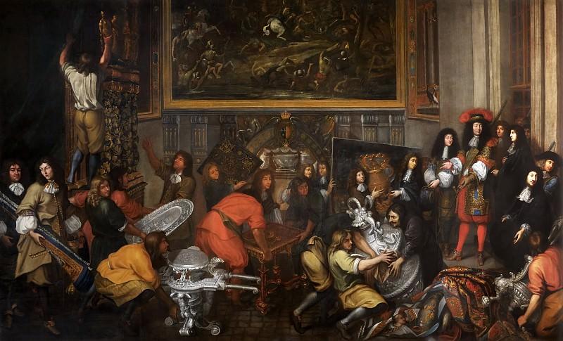 Simon Renard de Saint-Andre -- Louis XIV visits tapestry factory October 15, 1667. Château de Versailles