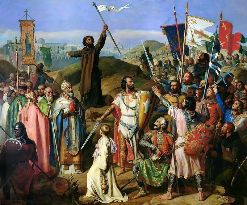 Jean-Victor Shnets -- Procession of Crusaders around Jerusalem July 14, 1099. Château de Versailles