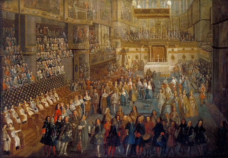 Attributed to Pierre-Denis Martin -- The coronation of Louis XV in the cathedral at Reims, 25 October 1722. Château de Versailles