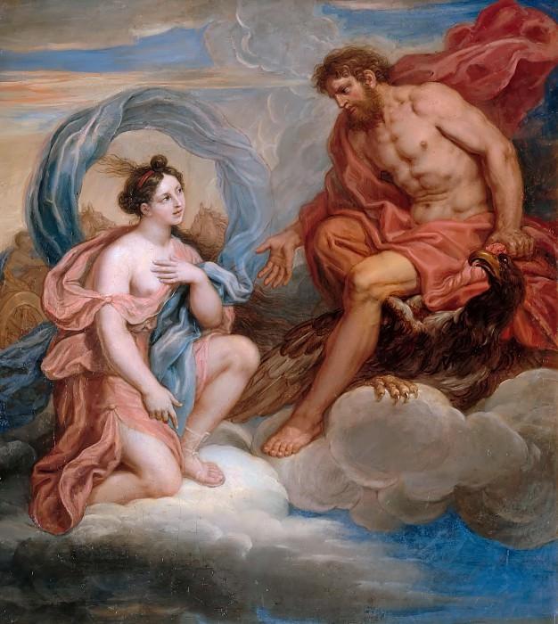 Michel Corneille the younger -- Iris and Jupiter. Château de Versailles