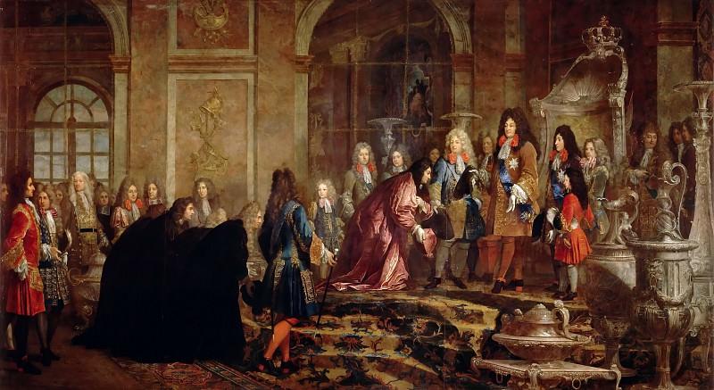 Клод-Ги Алле -- Аудиенция венецианского дожа у Людовика XIV в зеркальном зале Версаля 15 мая 1685 года. Версальский дворец