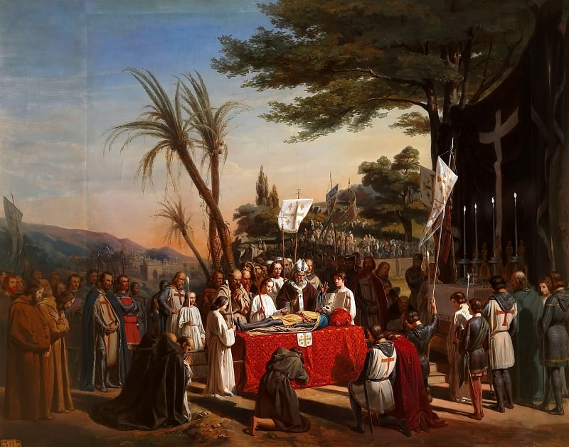 Edouard Cibot -- Funeral of Godefroy of Bouillon on Mount Calvary in Jerusalem, 23 July 1100. Château de Versailles