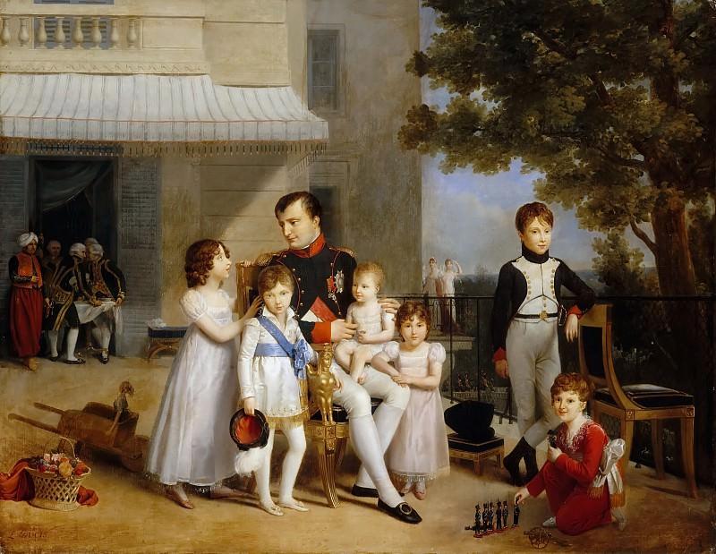 Louis Ducis -- The Emperor Napoleon I on the terrace of the Château de Saint-Cloud surrounded by his children. Château de Versailles