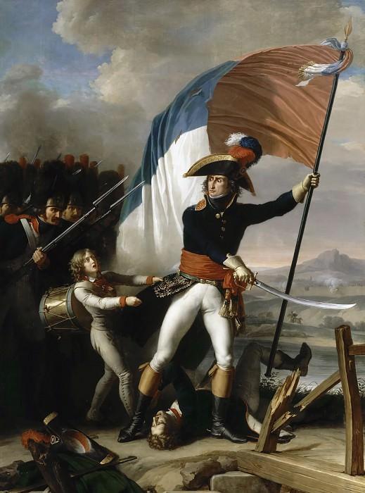 Шарль Тевенин -- Маршал Пьер Ожеро на мосту Арколь 15 ноября 1796 года. Версальский дворец