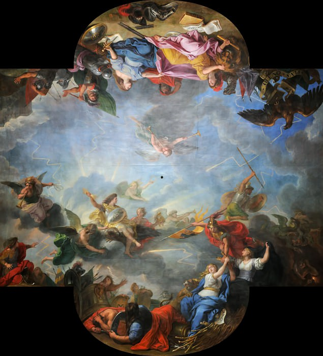 Charles Le Brun -- Capture of the city and citadel of Gand in six days. Château de Versailles