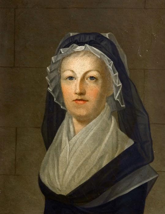 After Alexander Kucharski -- Portrait of Queen Marie Antoinette Dressed in Widow's Dress in Prison (Marie Antoinette au Temple). Château de Versailles