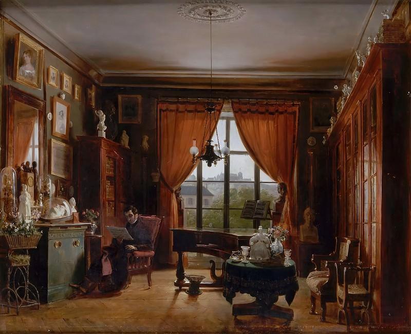 Prosper Lafaye -- Pierre Joseph Guillaume Zimmermann, Pianist, in his Apartment in the Square d'Orleans, Paris. Château de Versailles