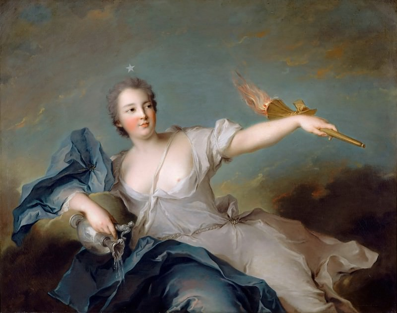 Jean-Marc Nattier -- Marie-Anne de Nesle, Marquise of Tournelle, Duchess of Chateauroux (1717-1744). Château de Versailles