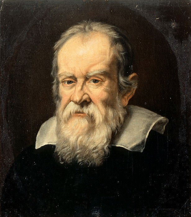 Attributed to Francesco Boschi -- Portrait of Galileo Galilei, Astronomer. Château de Versailles