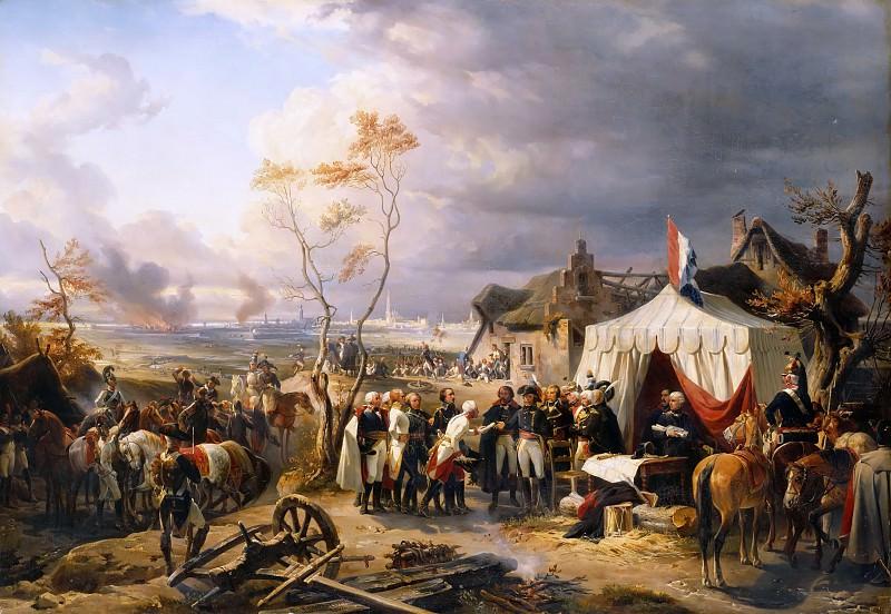 Félix Henri Emmanuel Philippoteaux -- Capitulation of the citadel at Anvers, 29 November 1792. Château de Versailles
