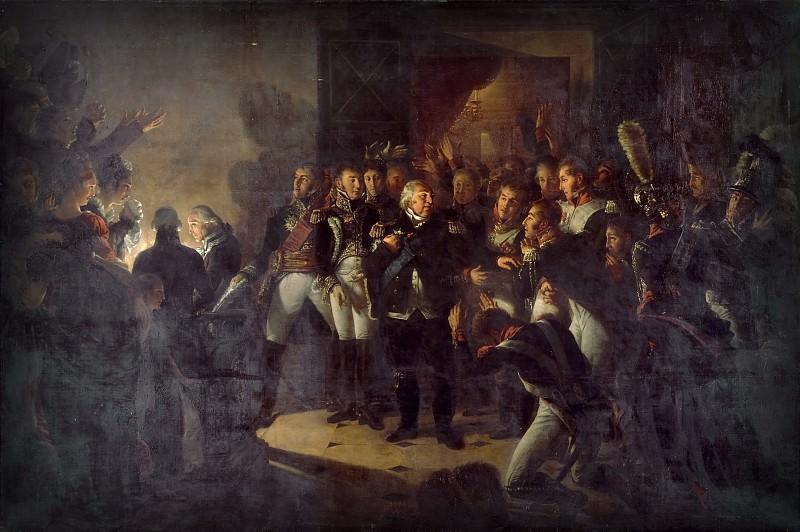 Гро, Антуан Жан -- Побег Людовика XVIII из Тюильри 20 марта 1815 года. Версальский дворец