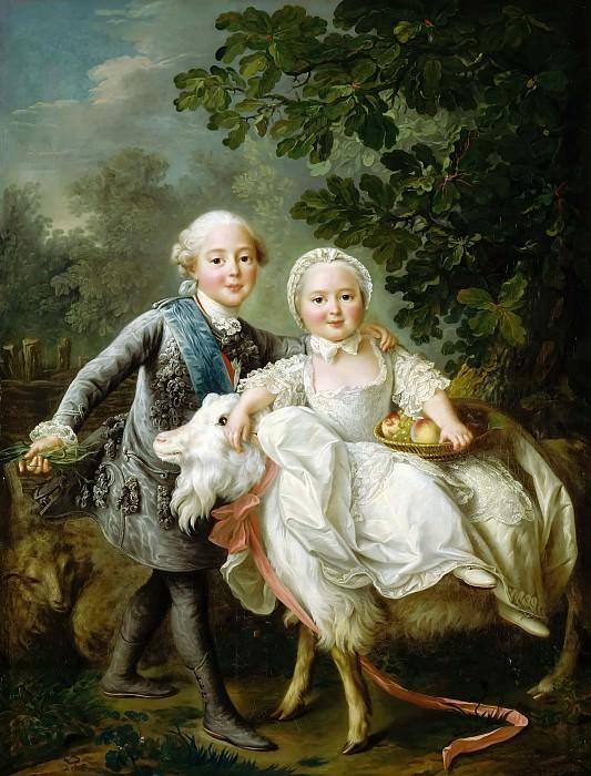 François Hubert Drouais -- The Count d'Artois and Madame Clotilde. Château de Versailles