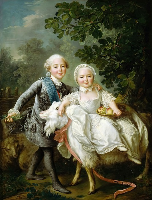 The Count Artois and Madame Clotilde. Francois-Hubert Drouais