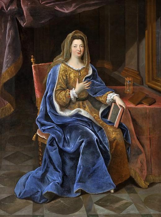 Pierre Mignard I -- Francoise d'Aubigne, Marquise of Maintenon (1635-1719). Château de Versailles