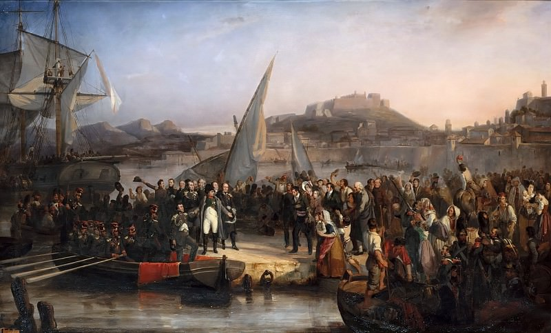 Joseph Beaume -- Napoléon I, leaving Elba to return to France, embarks from Portoferraio on February 26, 1815. Château de Versailles