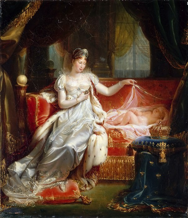 Jean Pierre Franque -- Empress Marie-Louise Watching the Sleeping King of Rome. Château de Versailles