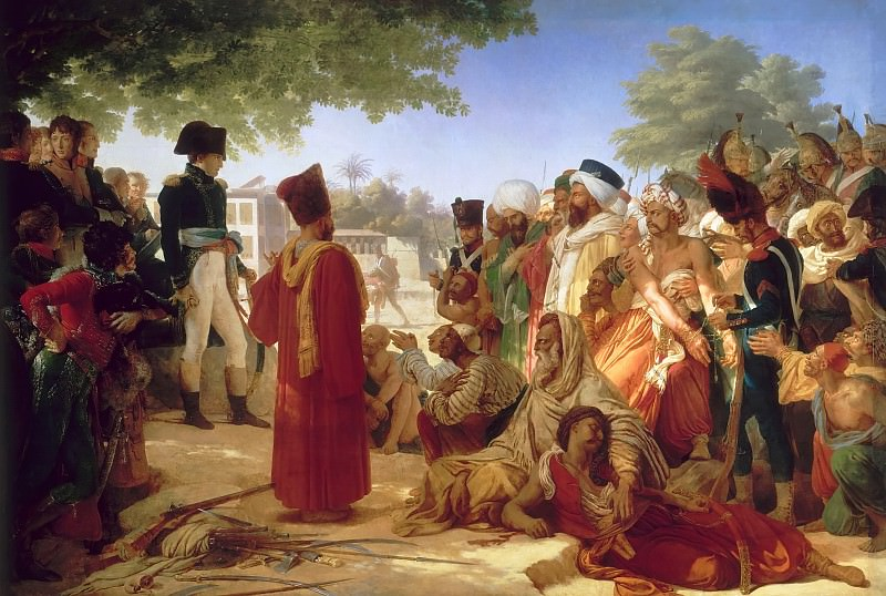 Pierre Guérin -- Napoleon Bonaparte Pardoning the Rebels in Cairo, October 30, 1798. Château de Versailles