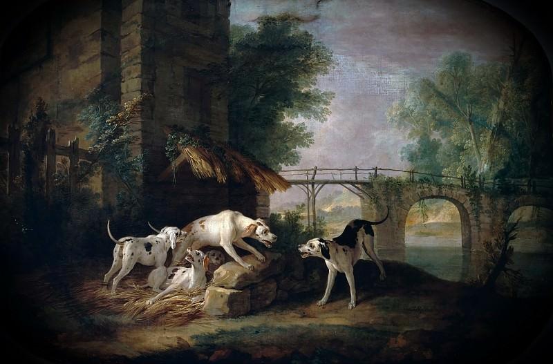 Jean-Baptiste Oudry -- Lice and his companion (La Lice et sa Compagne). Château de Versailles