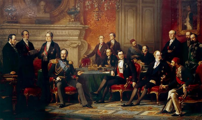 Edouard Dubufe -- The Congress of Paris, 20 February to 30 March 1856. Château de Versailles