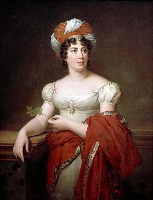 Marie Eléonore Godefroy -- Anne-Louise-Germaine Necker, Baroness de Staël-Holstein, known as Madame de Staël. Château de Versailles
