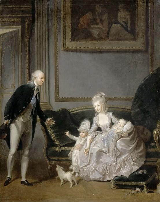 Эдуар Кибо -- Семья герцога Орлеанского в Пале-Руаяль в 1776 году. Версальский дворец