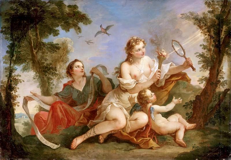 Charles-Joseph Natoire -- Beauty rekindles the flame of Love. Château de Versailles