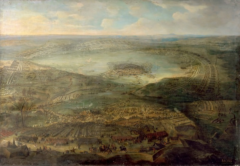 Jean-Baptiste Martin the elder -- Siege of the city of Mons, 1691. Château de Versailles