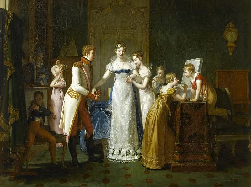 Adieux de Marie-Louise à sa famille, 13 mars 1810. Château de Versailles
